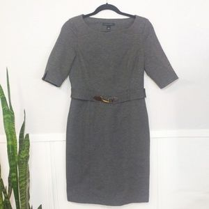 Banana Republic Grey Stretch Half Sleeve Dress